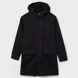 Denim Parka Black