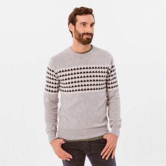 Fisher Lambswool Knit Sweater Grey