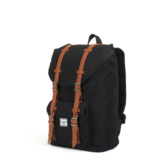 Little America Mid-Volume Backpack Black Tan