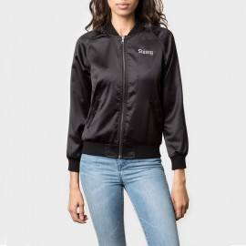 California Satin Jacket Black