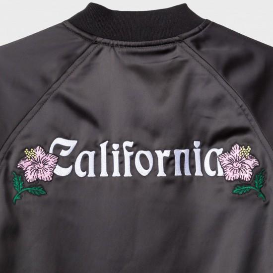 California Satin Jacket Black