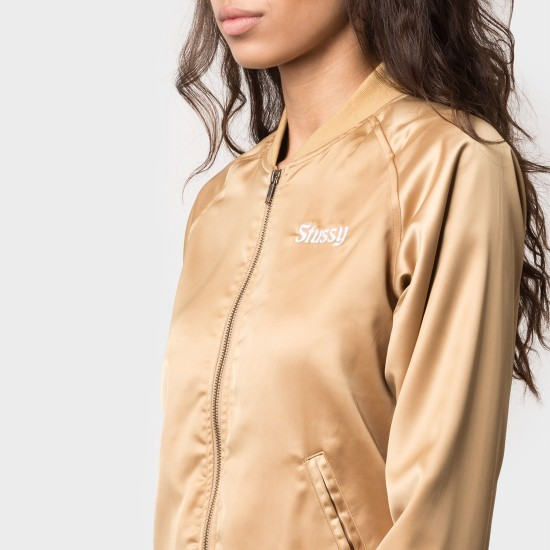 California Satin Jacket Gold