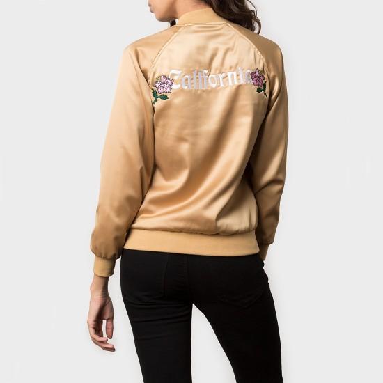 California Satin Jacket Gold