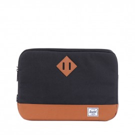 "Heritage Sleeve MacBook 13"" Black/Tan Synthetic Leather"