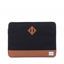 "Heritage Sleeve MacBook 15"" Black/Tan Synthetic Leather"