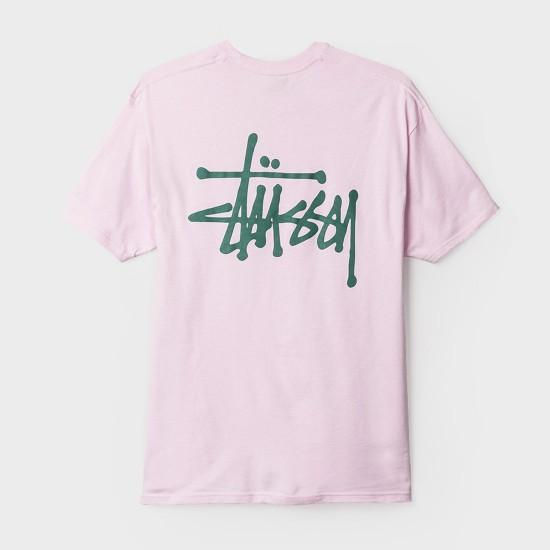 Camiseta Basic Stussy Lavander