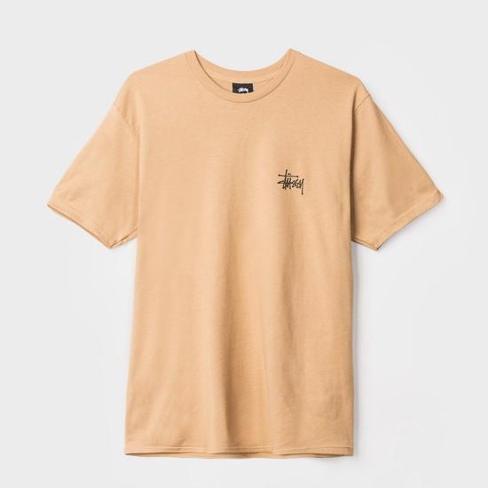 Camiseta Basic Stussy Brown