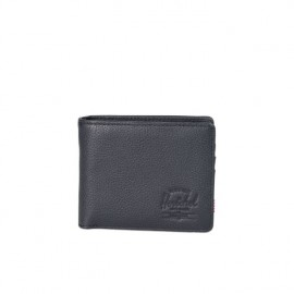 Cartera Hank Wallet Coin Black Pebbled Leather/RFID