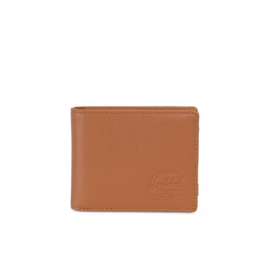 Hank Wallet Coin Tan Pebbled Leather/RFID