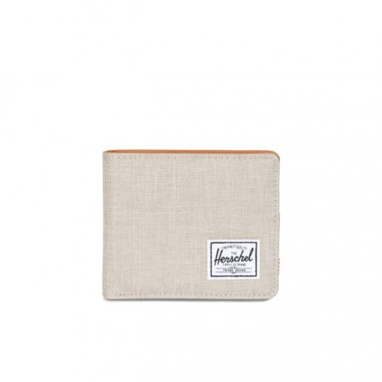Cartera Hank Wallet Coin Light Khaki Crosshatch/RFID