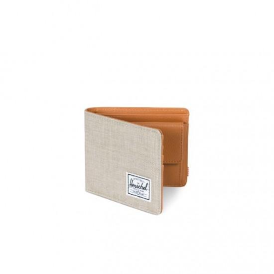 Hank Wallet Coin Light Khaki Crosshatch/RFID