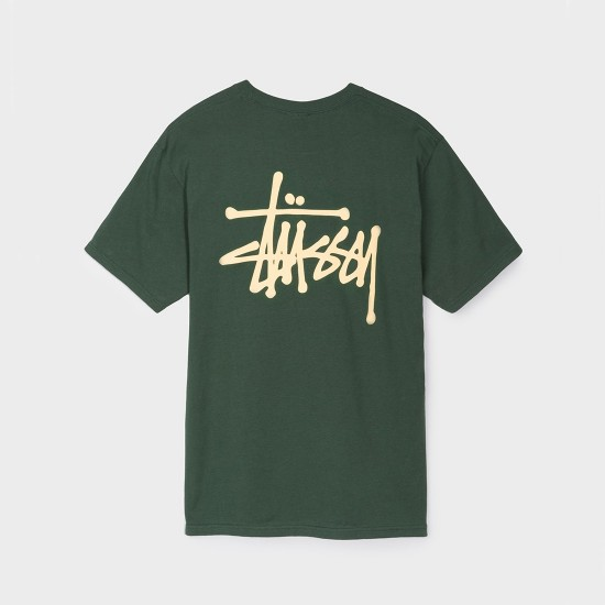Basic Stussy Tee Dark Forest