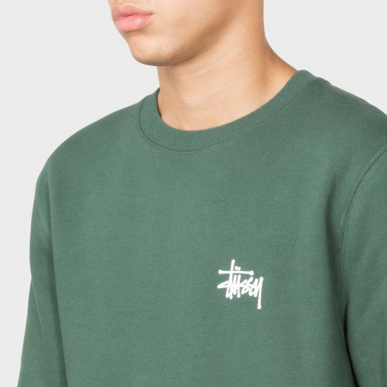 Basic Stüssy Crew Dark Forest