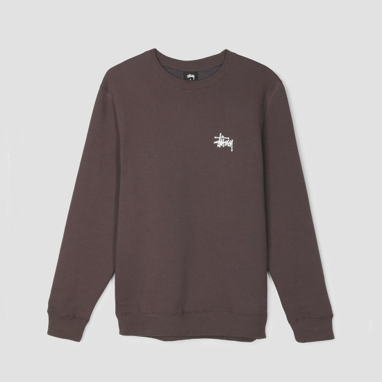 Basic Stüssy Crew Chocolate