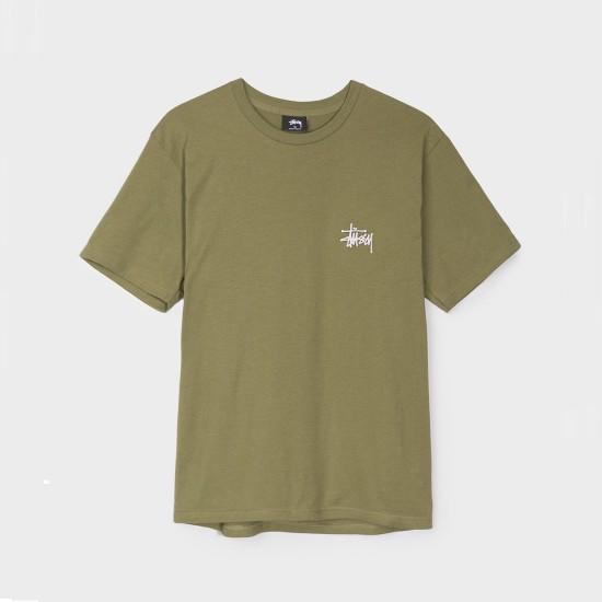 Camiseta Basic Stussy Olive