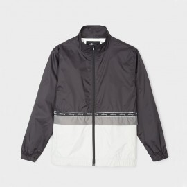 Nylon Warm Up Jacket Black