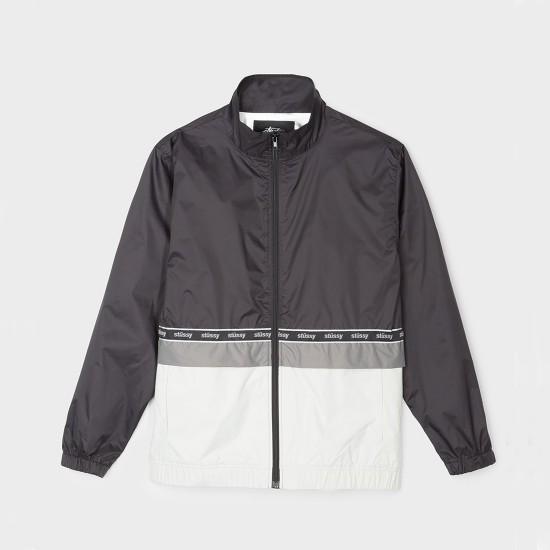 Nylon Warm Up Jacket Black