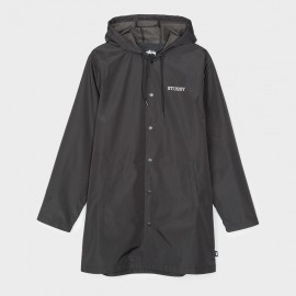 Tony Long Hooded Coach Jacket Black