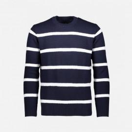 Bayside Knit Navy/White