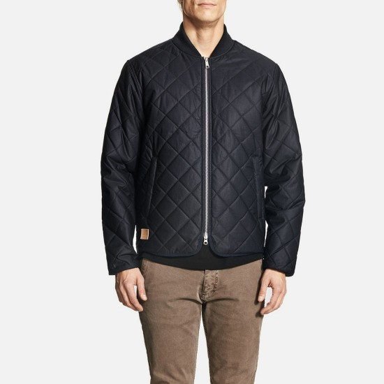 Jaqueta Quilted Navy
