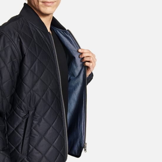 Chaqueta Quilted Navy