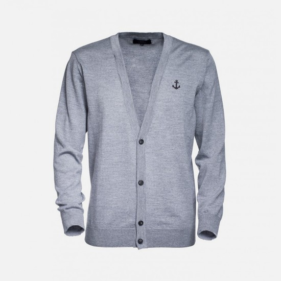 Merino Cardigan Grey