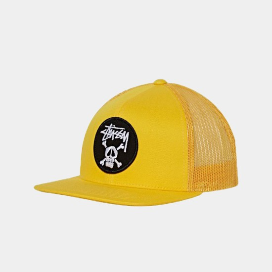 Crossbones Trucker Cap Yellow