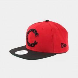 Chain C Logo Snapback  Scarlet Black