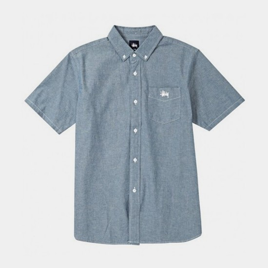 Solid Chambray Shirt Blue