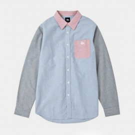 3 Tone Oxford Shirt Light Blue