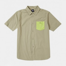 Contrast Pocket Shirt Khaki