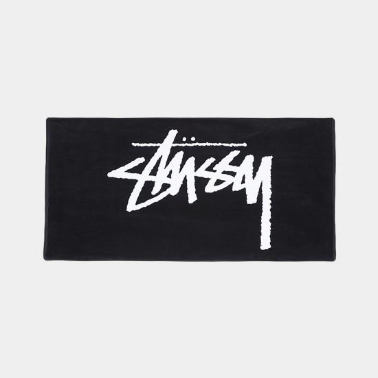 Stock Plush Towel Black