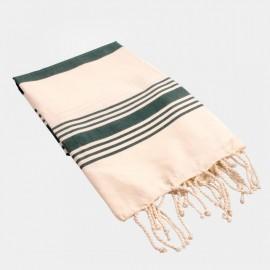 Zazpi Towel Ecru Green