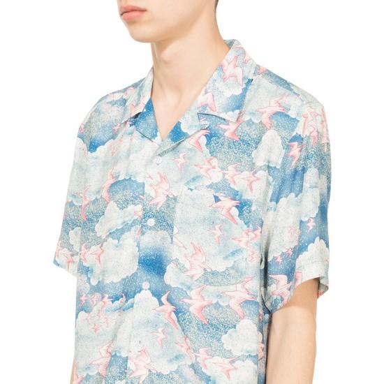 Camisa Cloud and Birds Blue