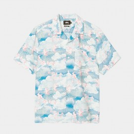 Cloud and Birds Shirt Blue