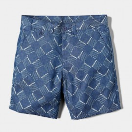 Bowed Short Indigo