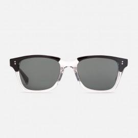 Angelo Sunglasses Half Clear / Dark Grey