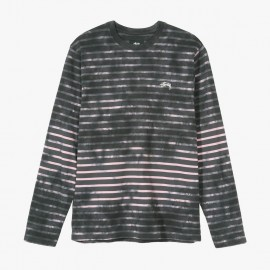 Bleach Stripe Crew Charcoal