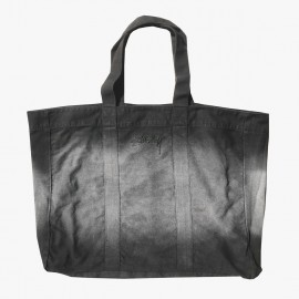 Bleach Stripe Beach Tote Black
