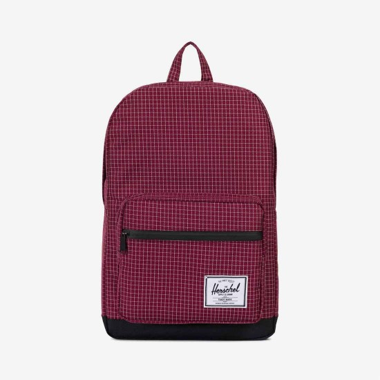 Mochila Pop Quiz Windsor Wine Grid/Black