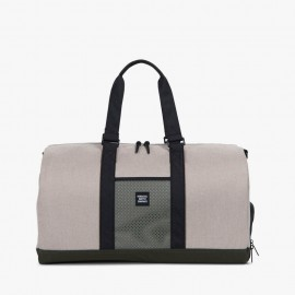 Novel Duffle Bag Light Khaki Crosshatch