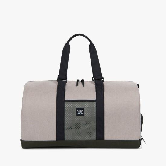 Novel Duffle Bag Light Khaki Crosshatch