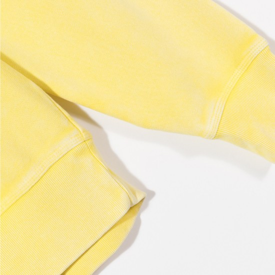 Dessuadora Stock Logo Crew Yellow
