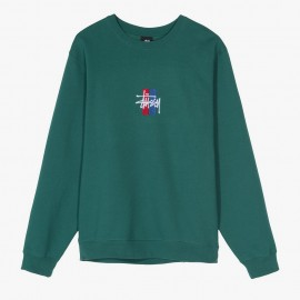 Dessuadora 2 Bar Stock Applique Crew Green