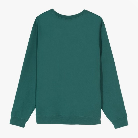 Sudadera 2 Bar Stock Applique Crew Green