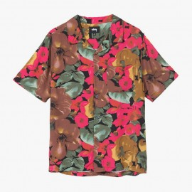 Watercolor Flower Shirt Black