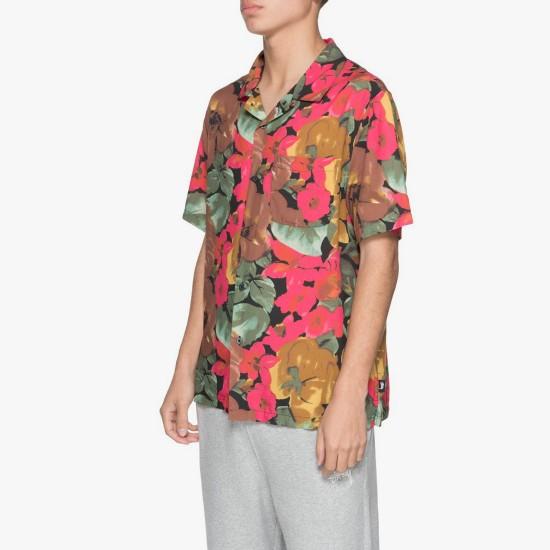 Watercolor Flower Shirt Black
