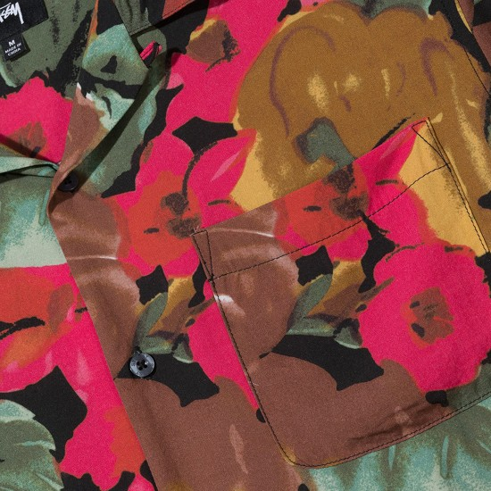 Camisa Watercolor Flower Black