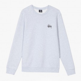 Sudadera Basic Stüssy Crew Ash Heather