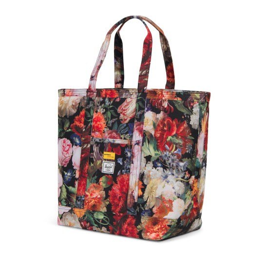 Bamfield Tote Bag Mid Volume Fall Floral  Hoffman Collection